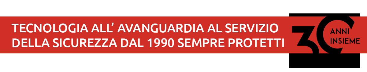 banner servizio sicurezza sempre protetti 30 anni
